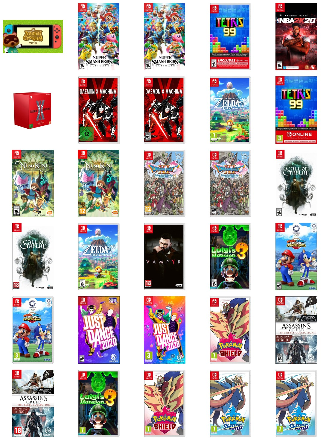 Switch Games Nintendo Direct 09-04-2019