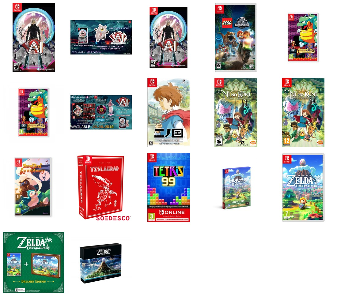Releases week of 16th of September 2019